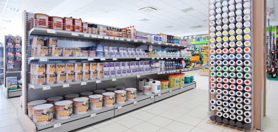 Arredo e allestimento negozio di colori l 39 arreda for L arreda negozi